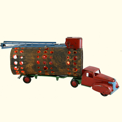 Pressed steel fire truck